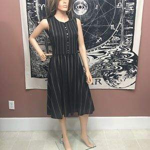 Banana Republic 100% Cotton Striped Casual Dress